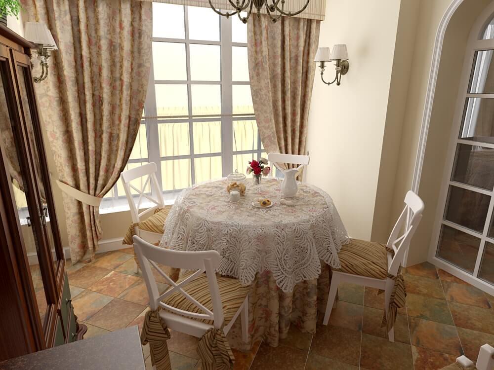 интерьер кухни в прованс стиле