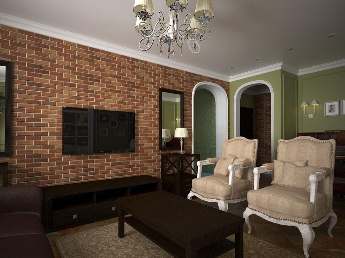 интерьер гостинной в стиле прованс