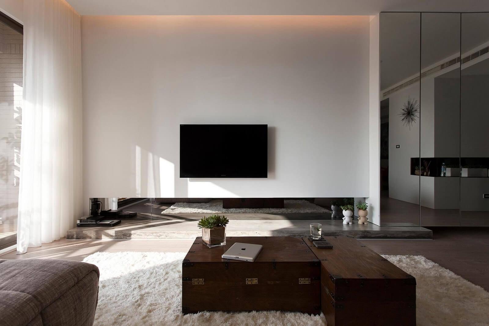 Ремонт просторной гостиной
