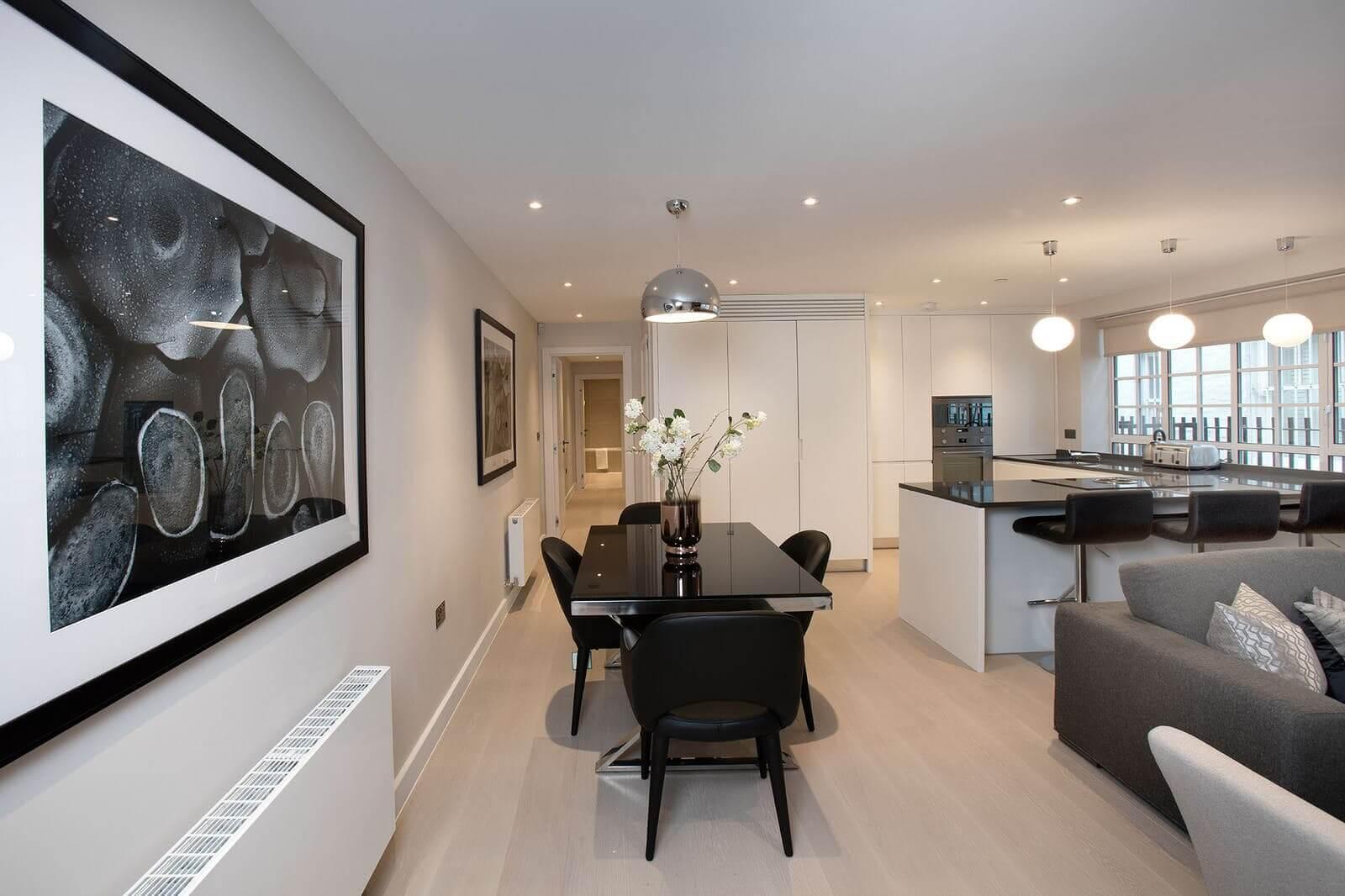 дизайн интерьера в элитной квартире