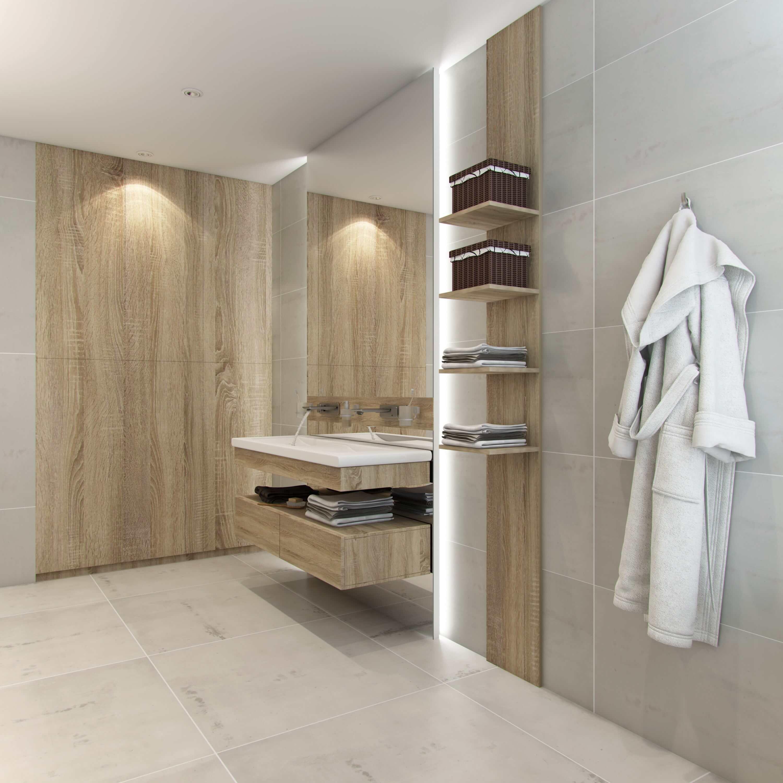 ванная комната в оформлении деревом