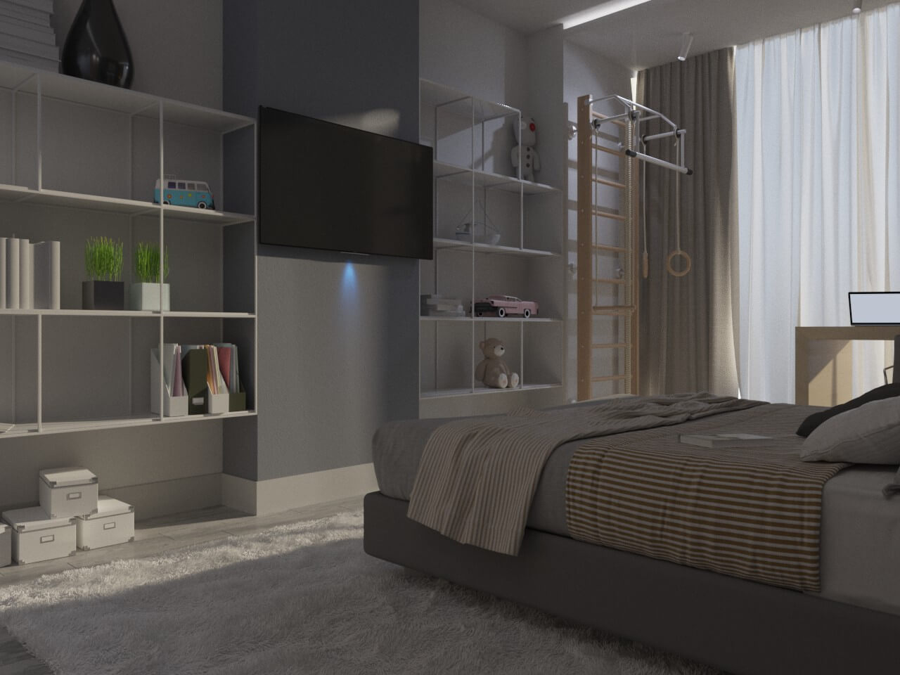 интерьер детской спальни в 2к квартире