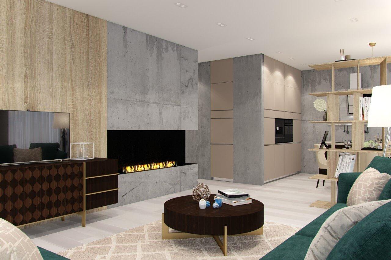 интерьер просторной гостинной