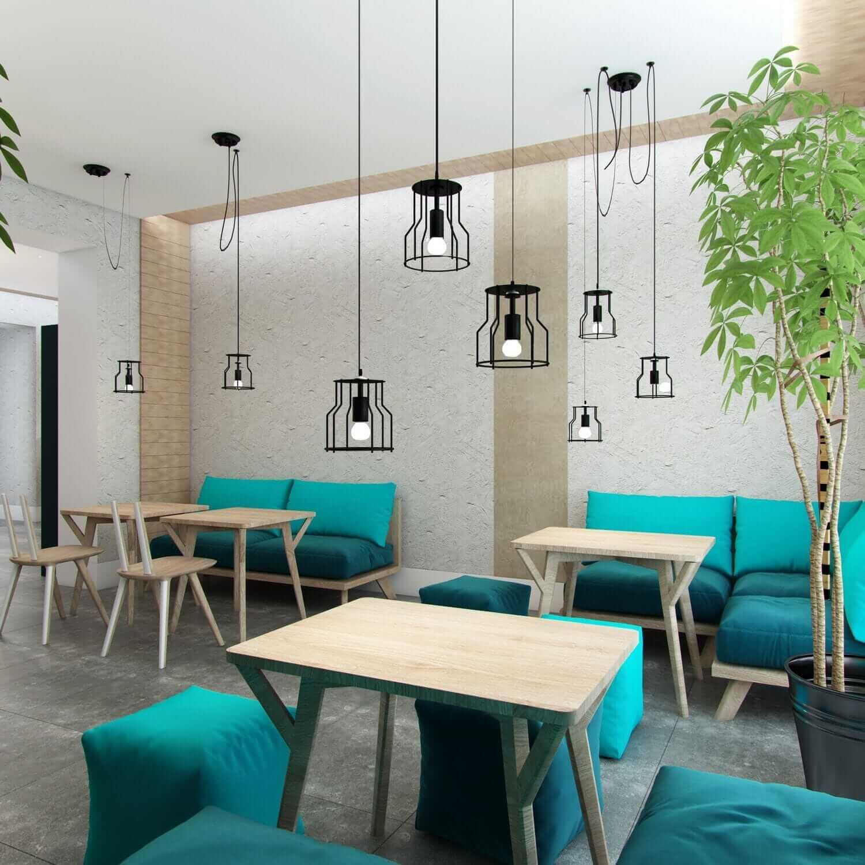 интерьер ресторана в стиле поп-арт
