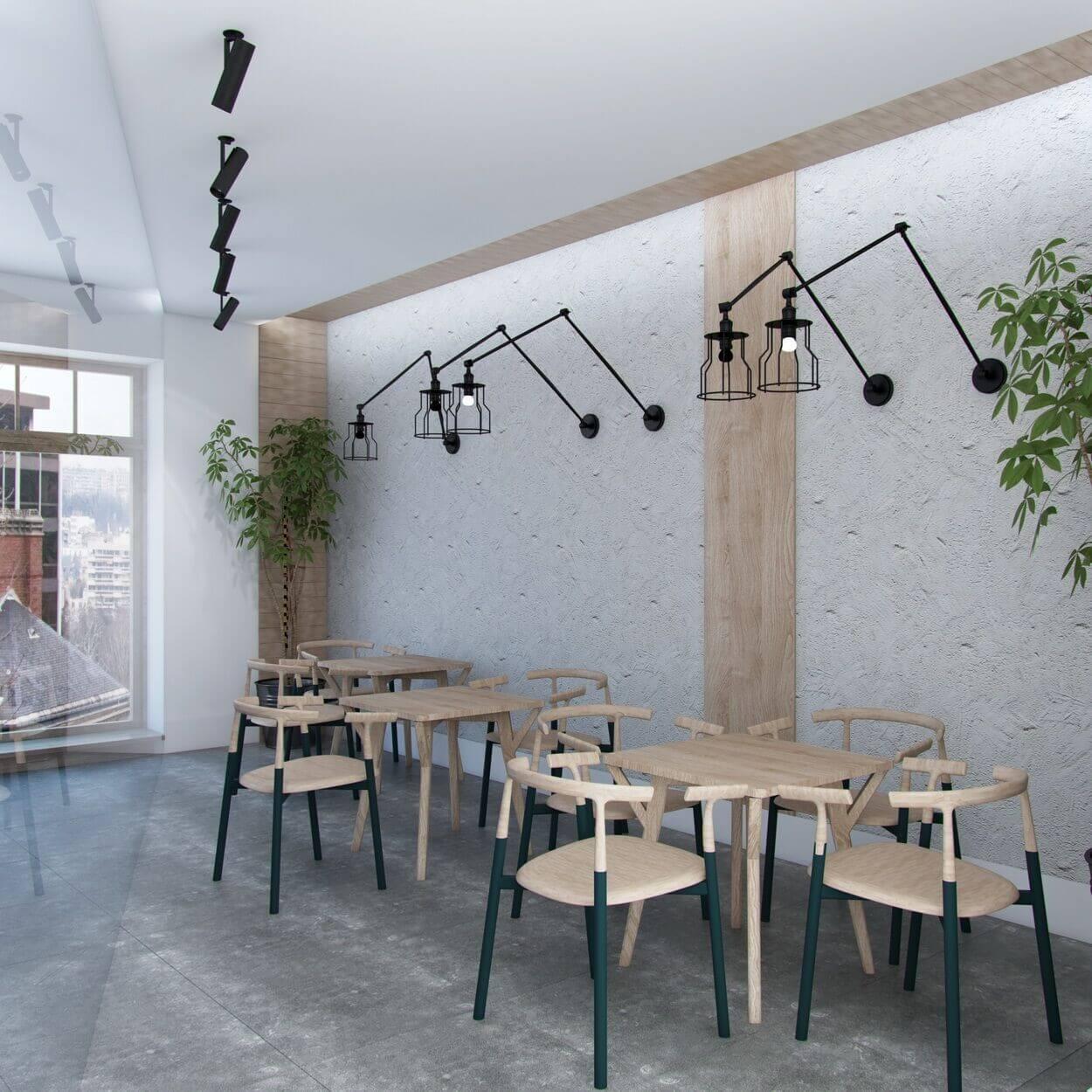 ремонт и дизайн небольшого кафе