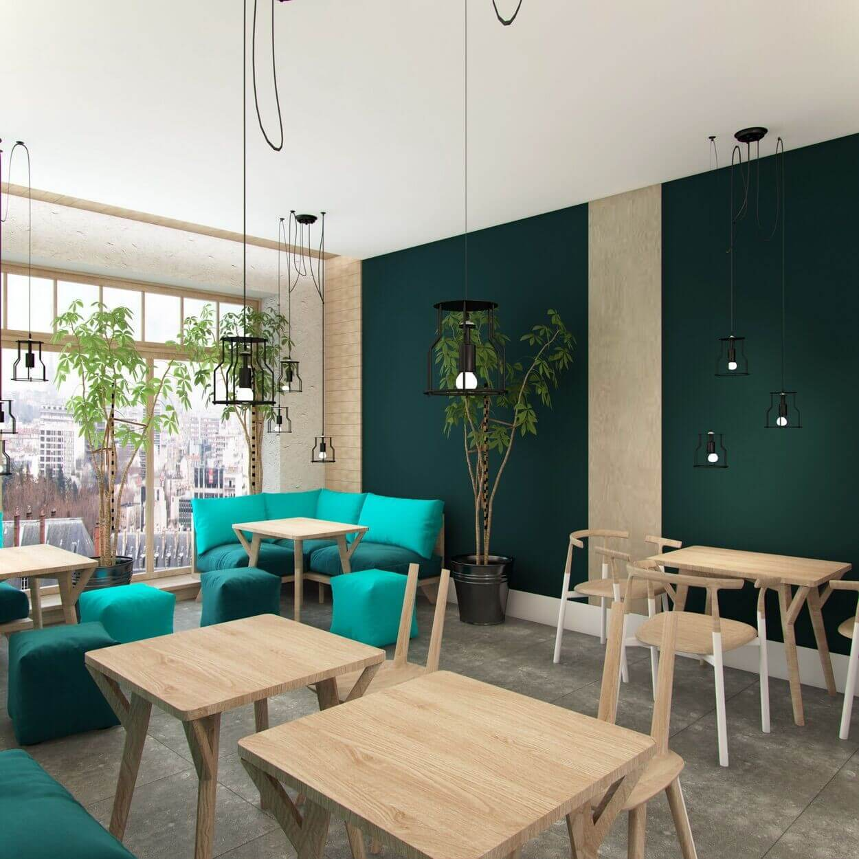 дизайн проект кафе милк поинт