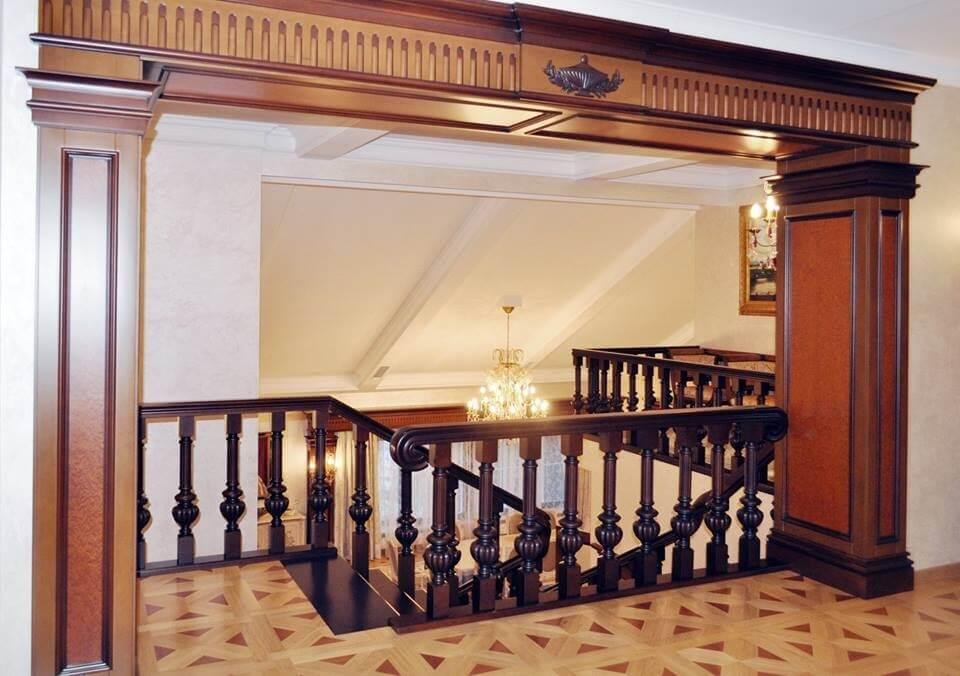 второй этаж в коттедже в классическом стиле