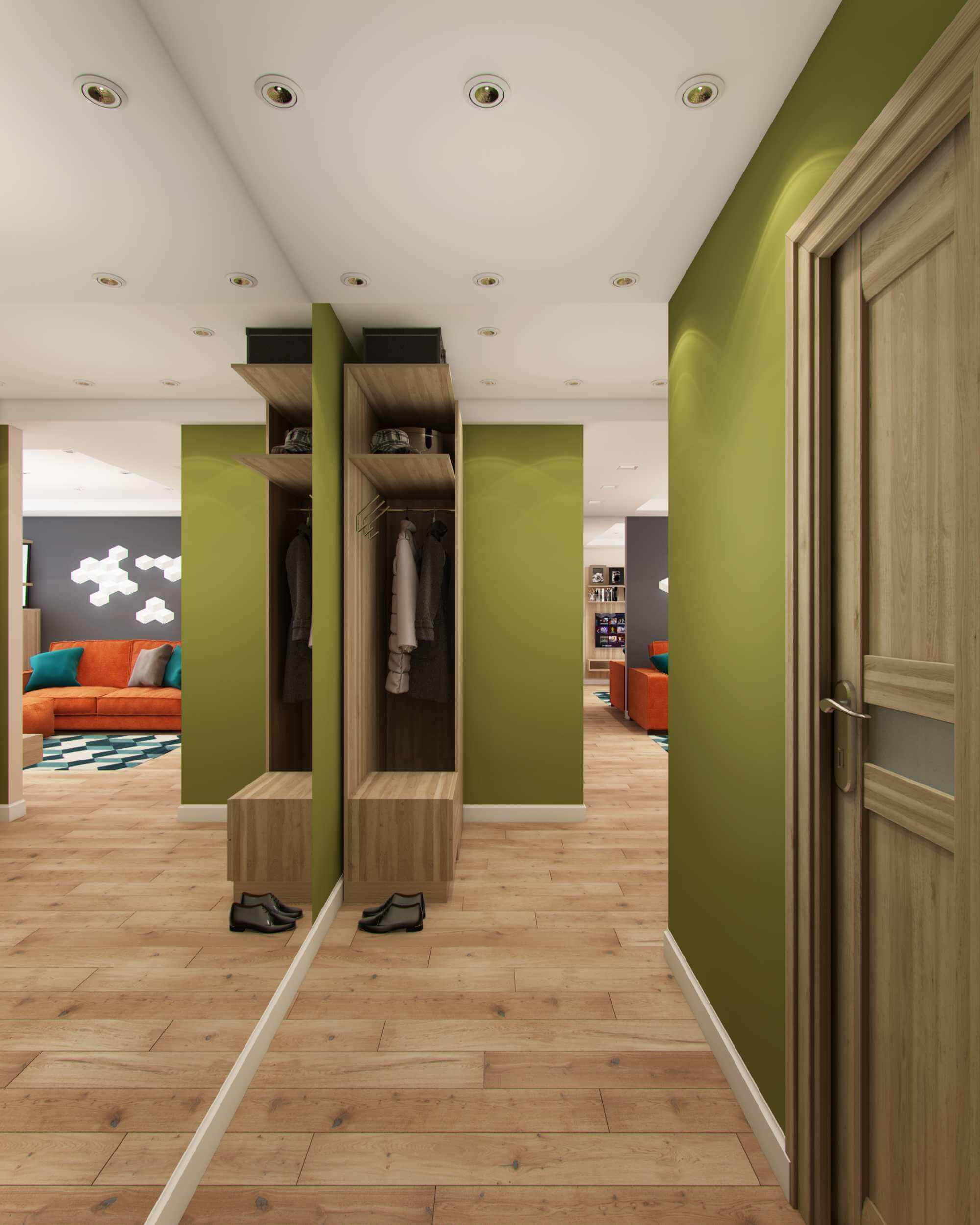 коридор в квартире с гардеробной