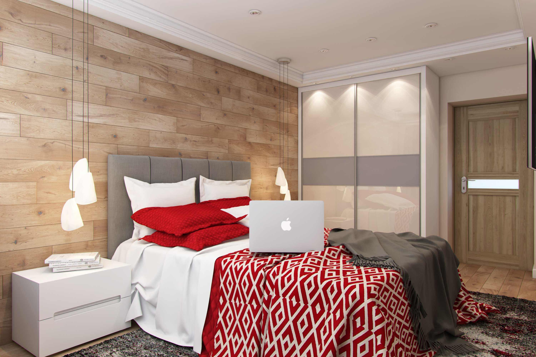 дизайн спальной комнаты в ярких тонах