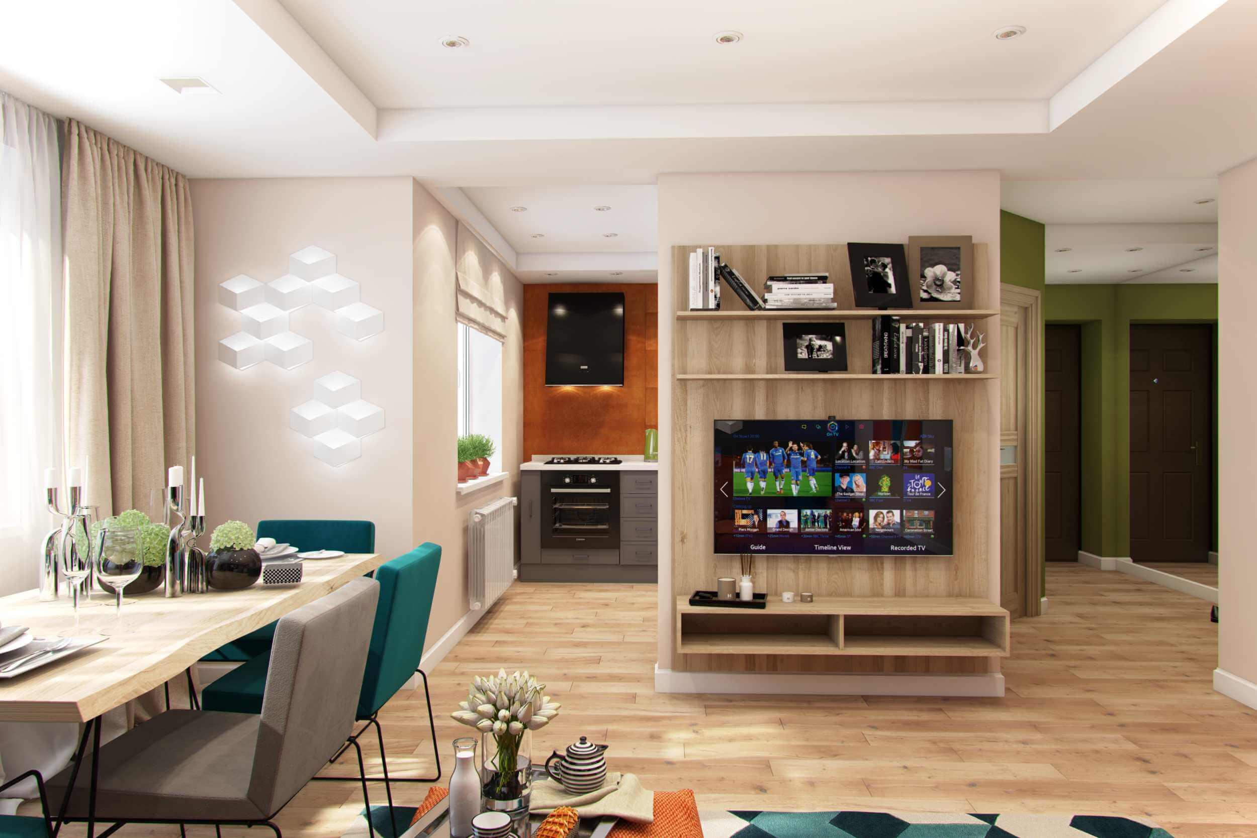 планировка квартиры студии в современном стиле