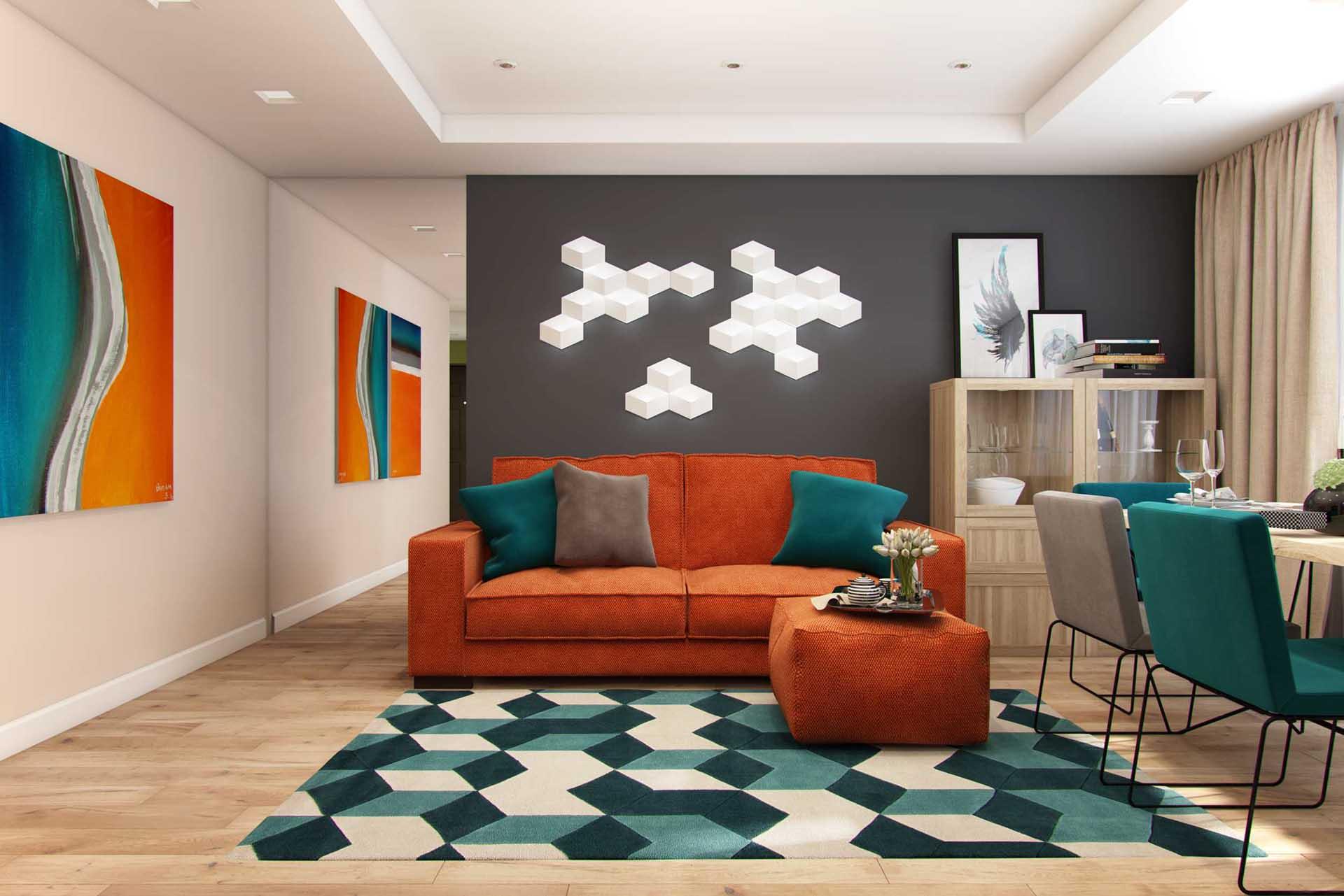 авангард в дизайне гостинной