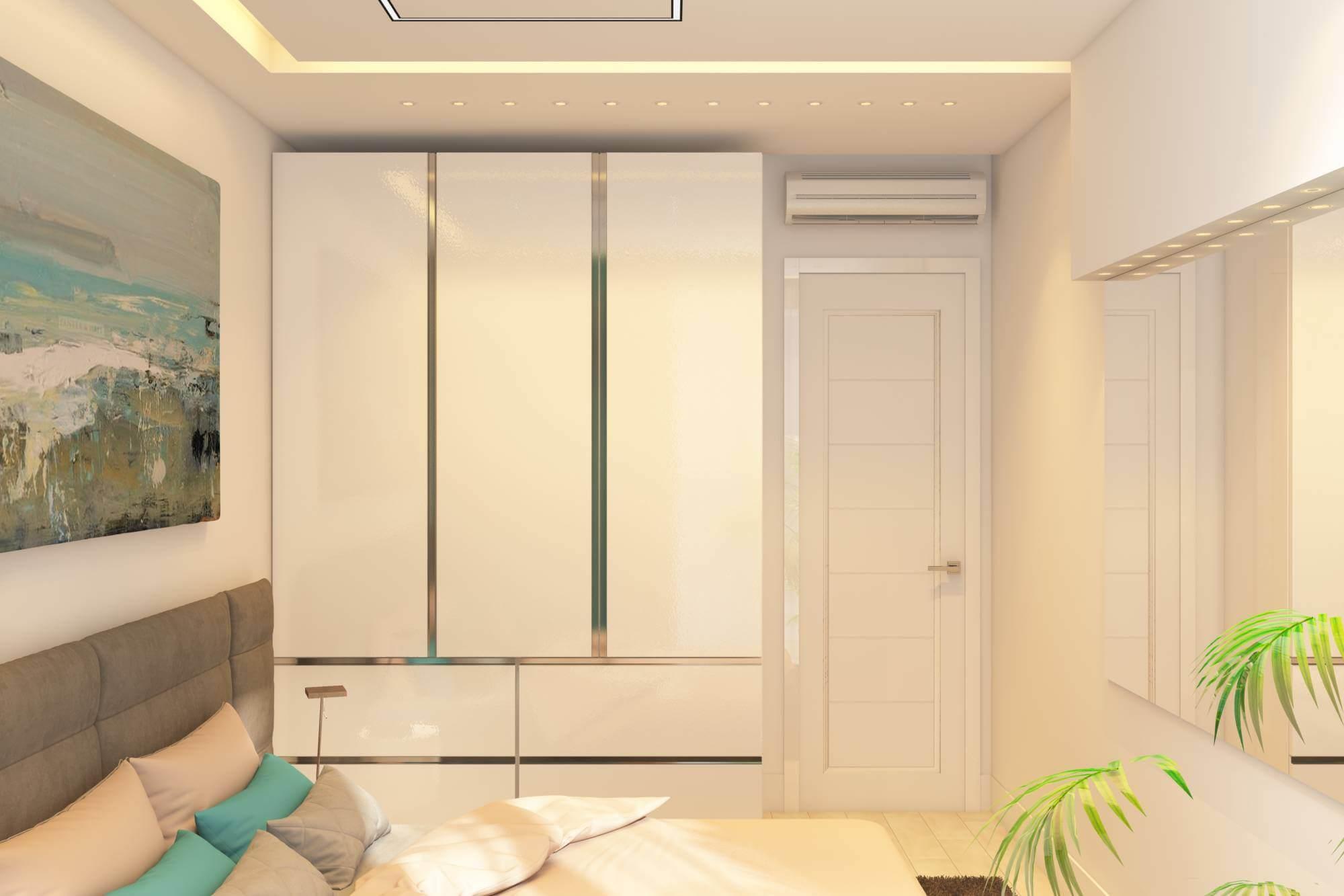 интерьер спальни в стиле современный минимализм