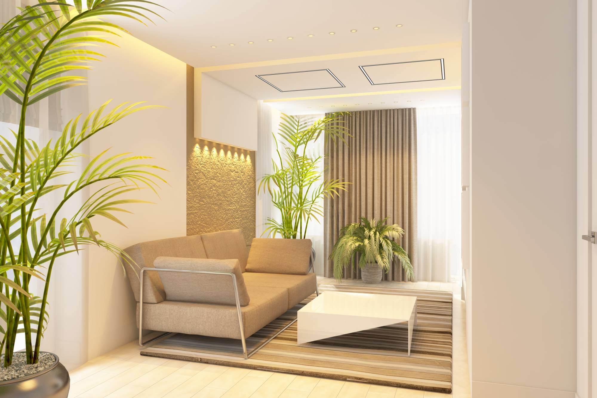 гостинная в стиле минимализм