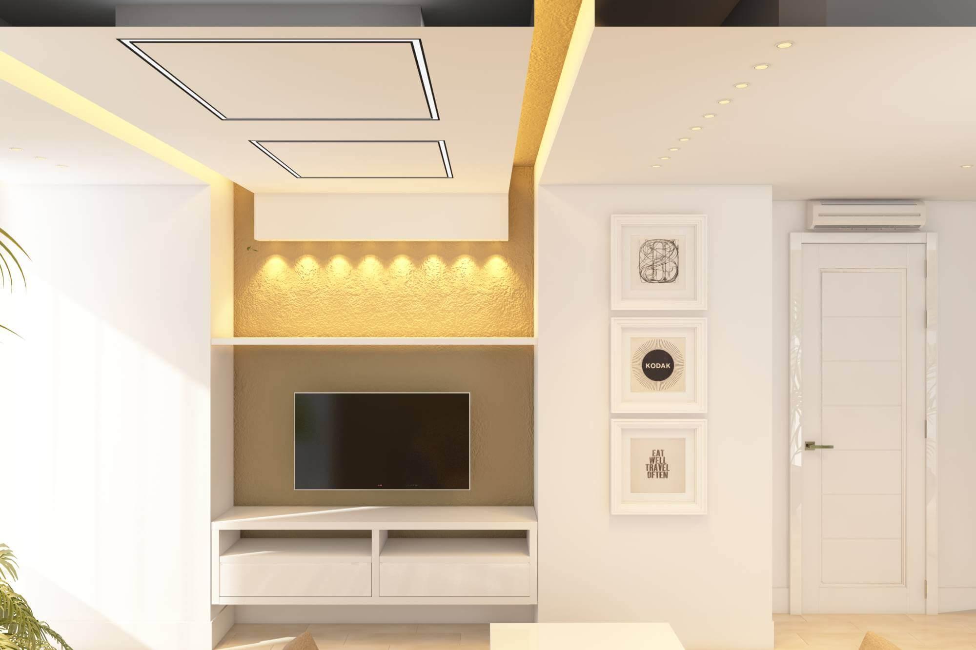 дизайн гостинной в светлых тонах