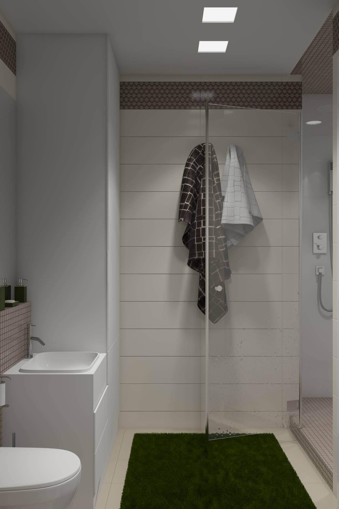 интерьер ванной в белых тонах