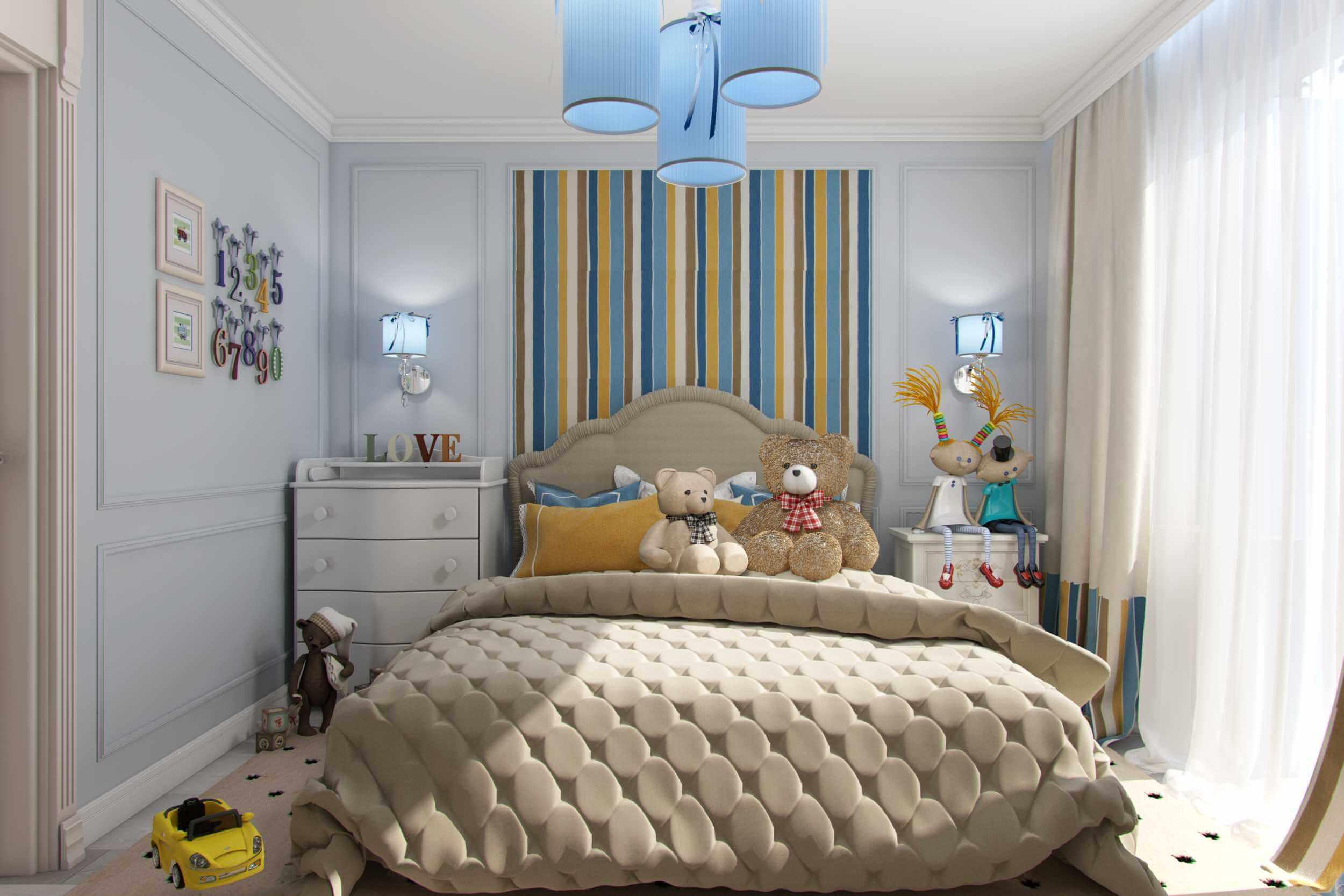 дизайн детской комнаты в новостройке
