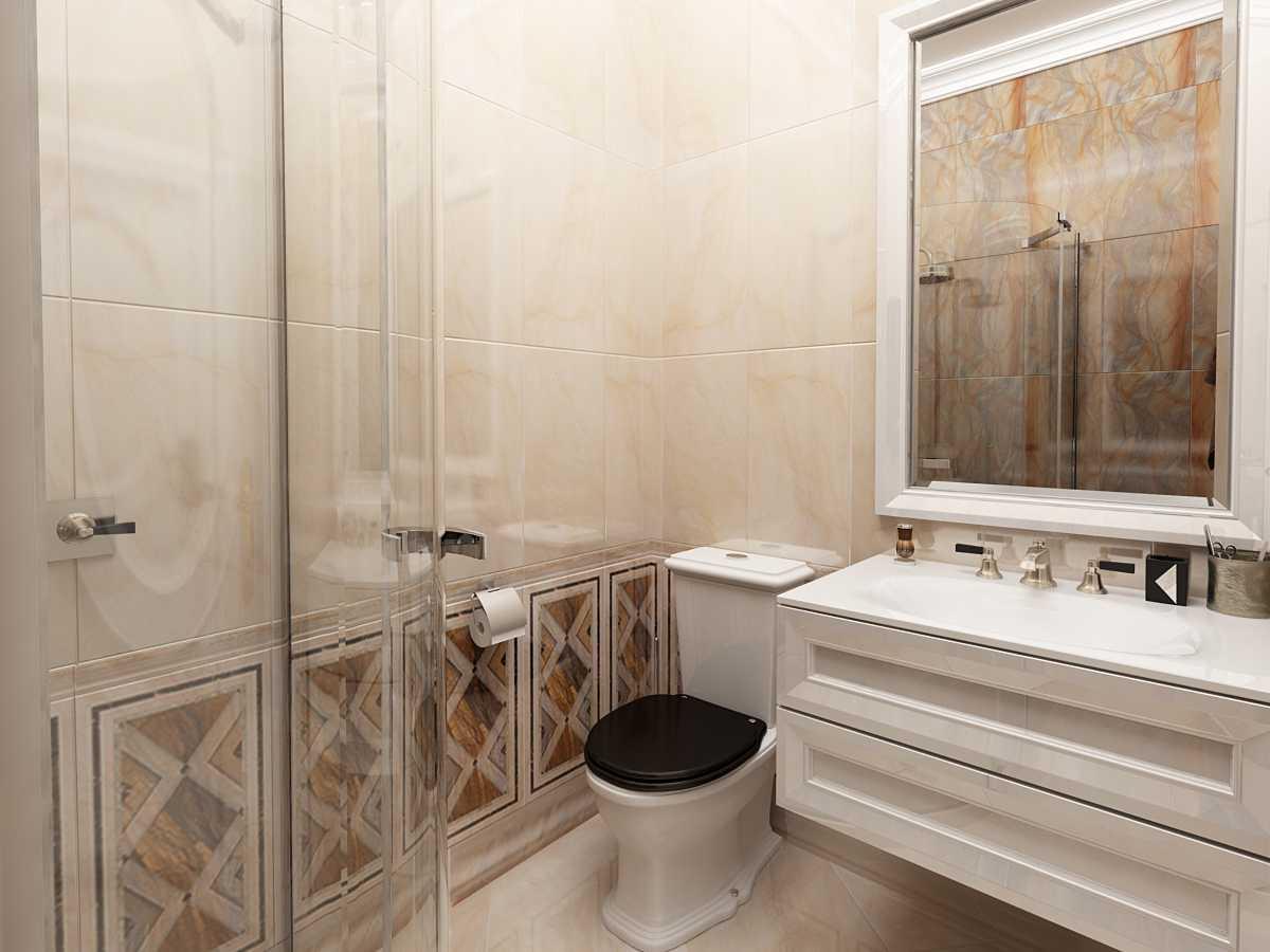 санузел в ванной арт деко