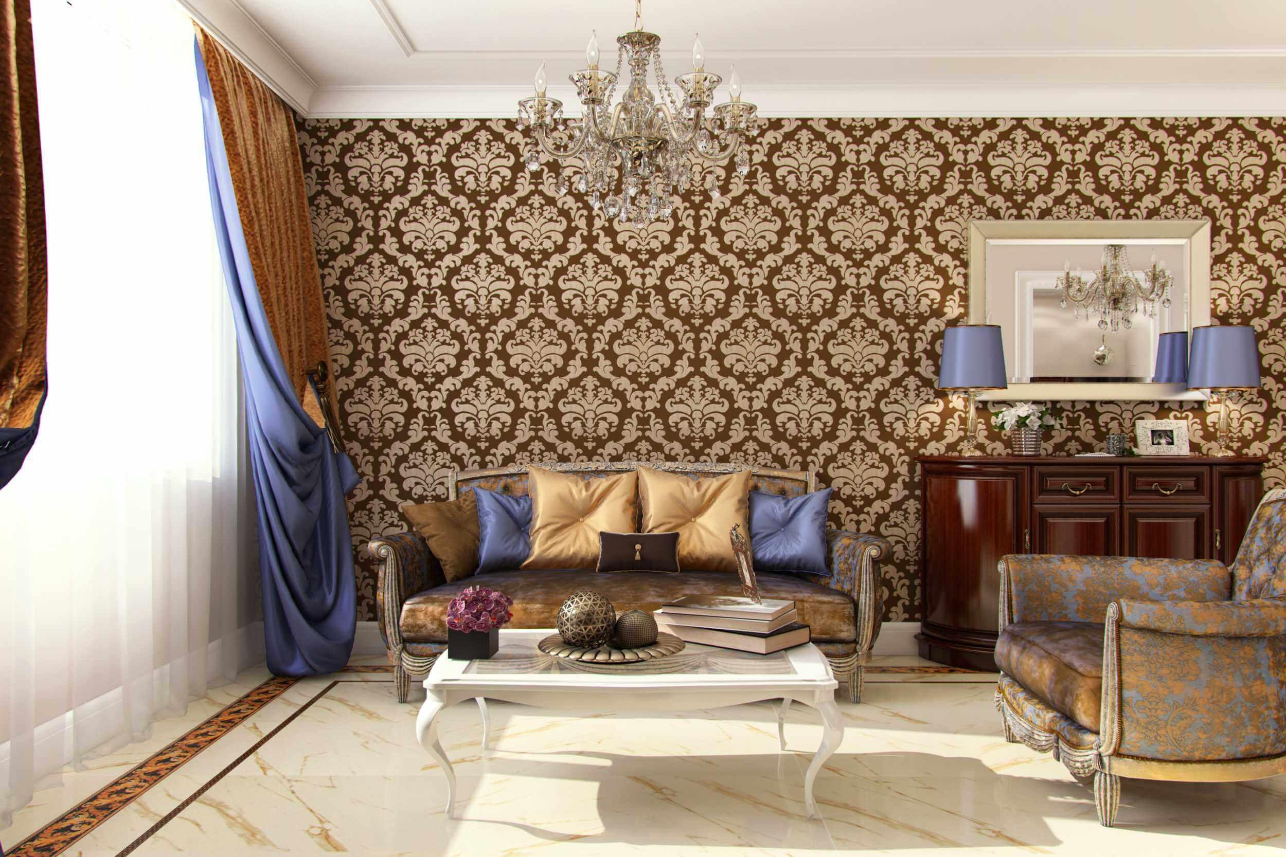 общая комната в стиле арт деко