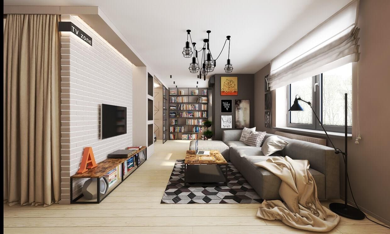 Дизайнерский ремонт 1к квартиры