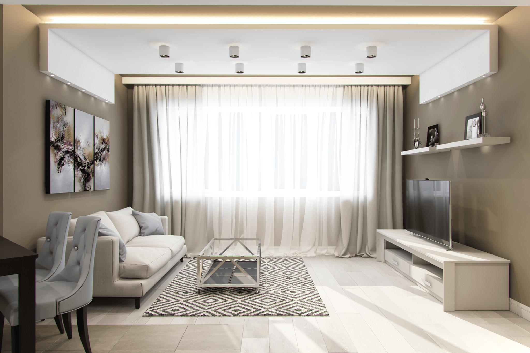 интерьер гостинной в современном стиле