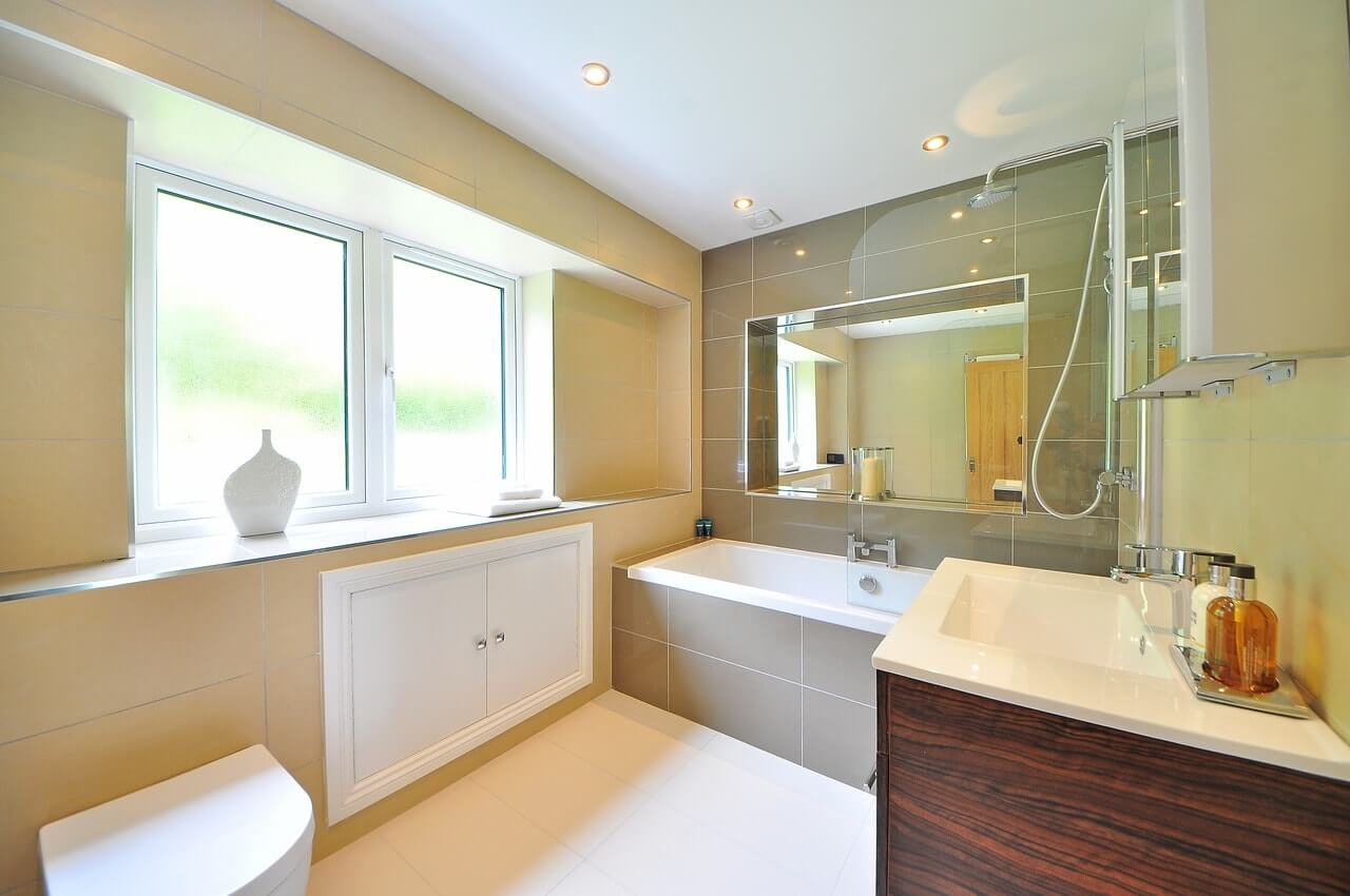ванная в трех комнатной квартире