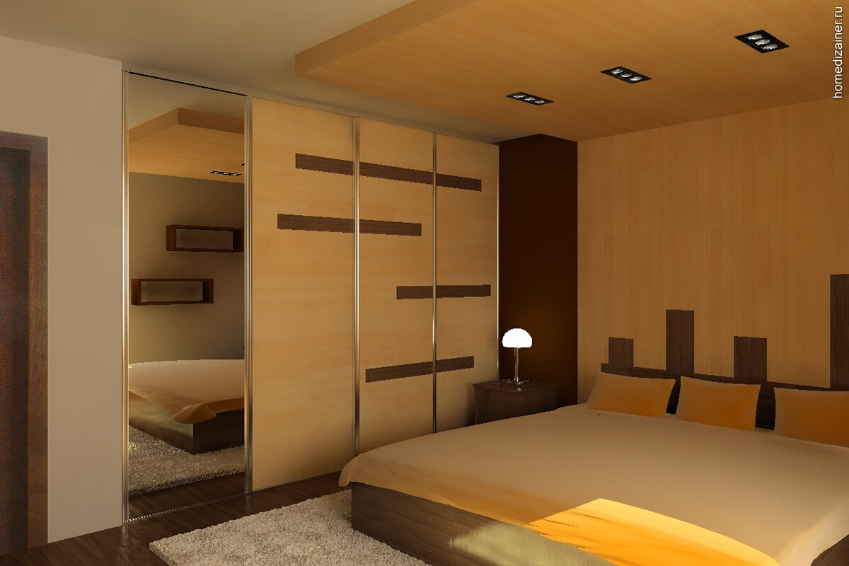 дизайн спальни в двух комнатной квартире