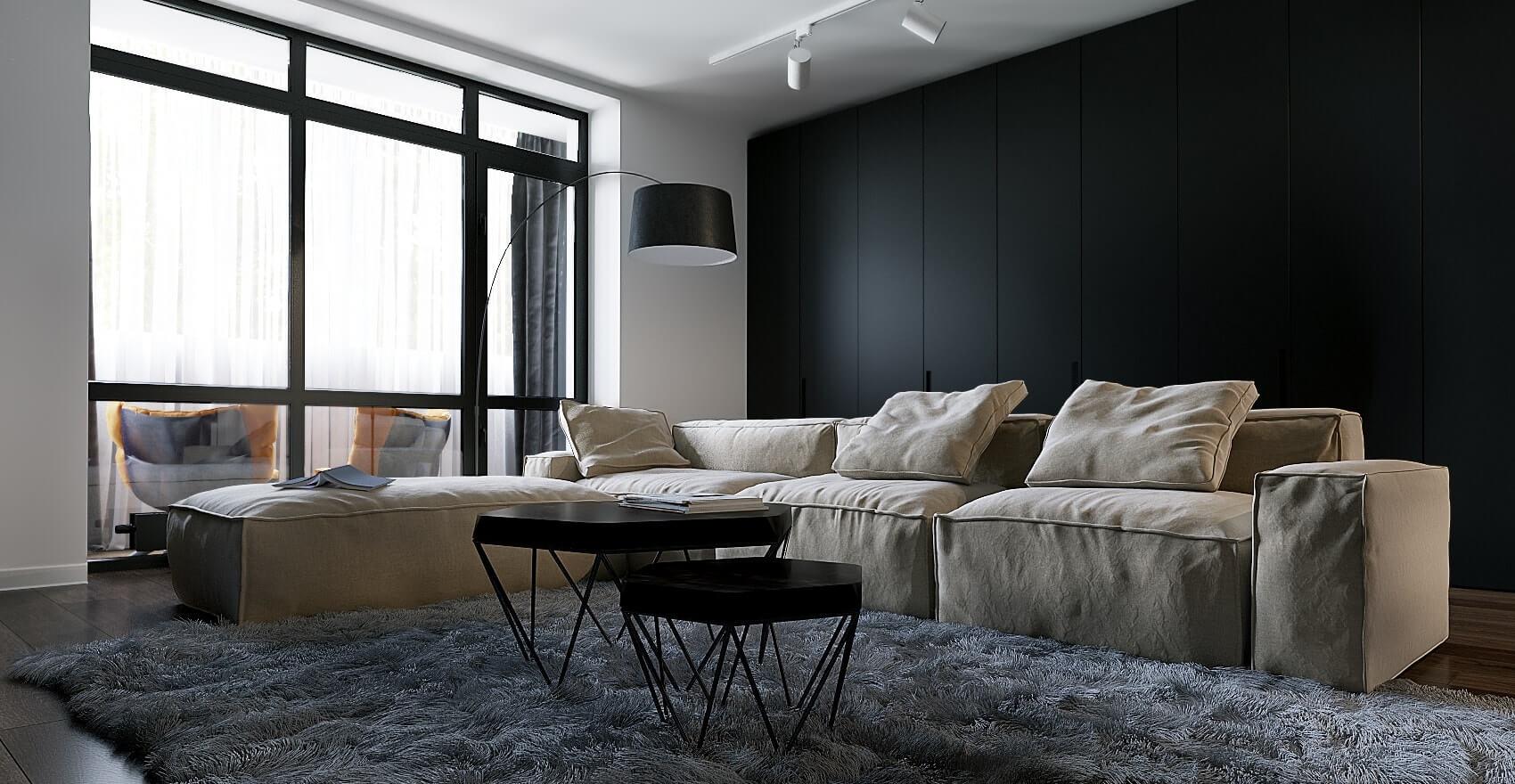дизайн залы в 2-х комнатной квартире