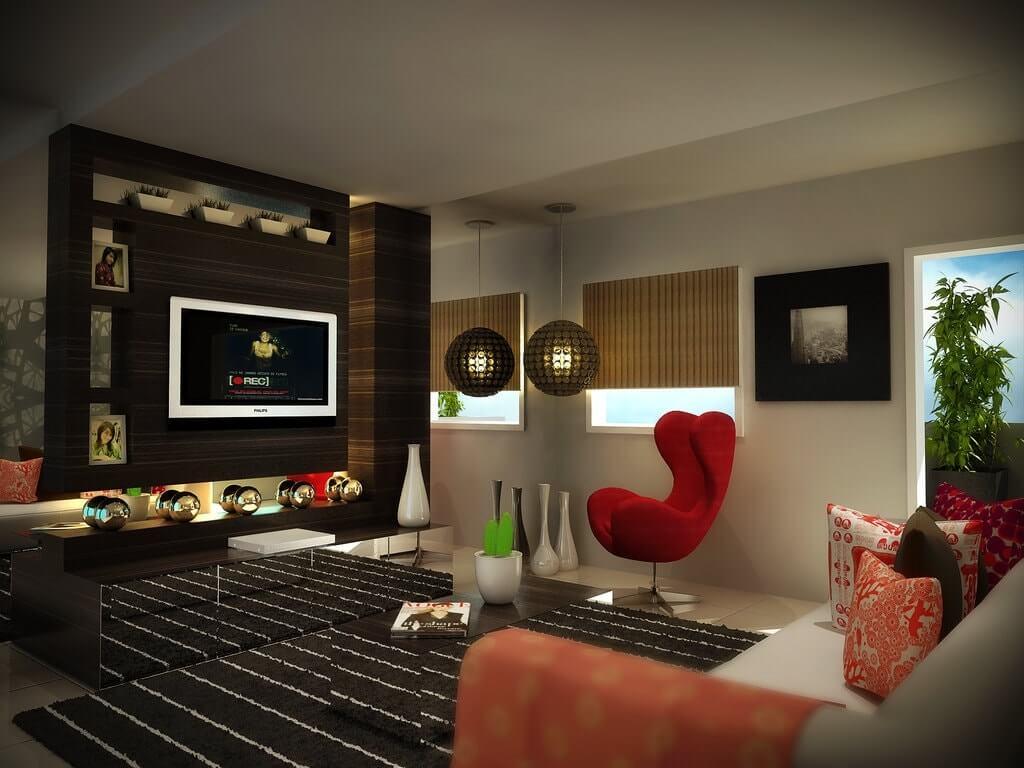 дизайн интерьера гостинной в двушке
