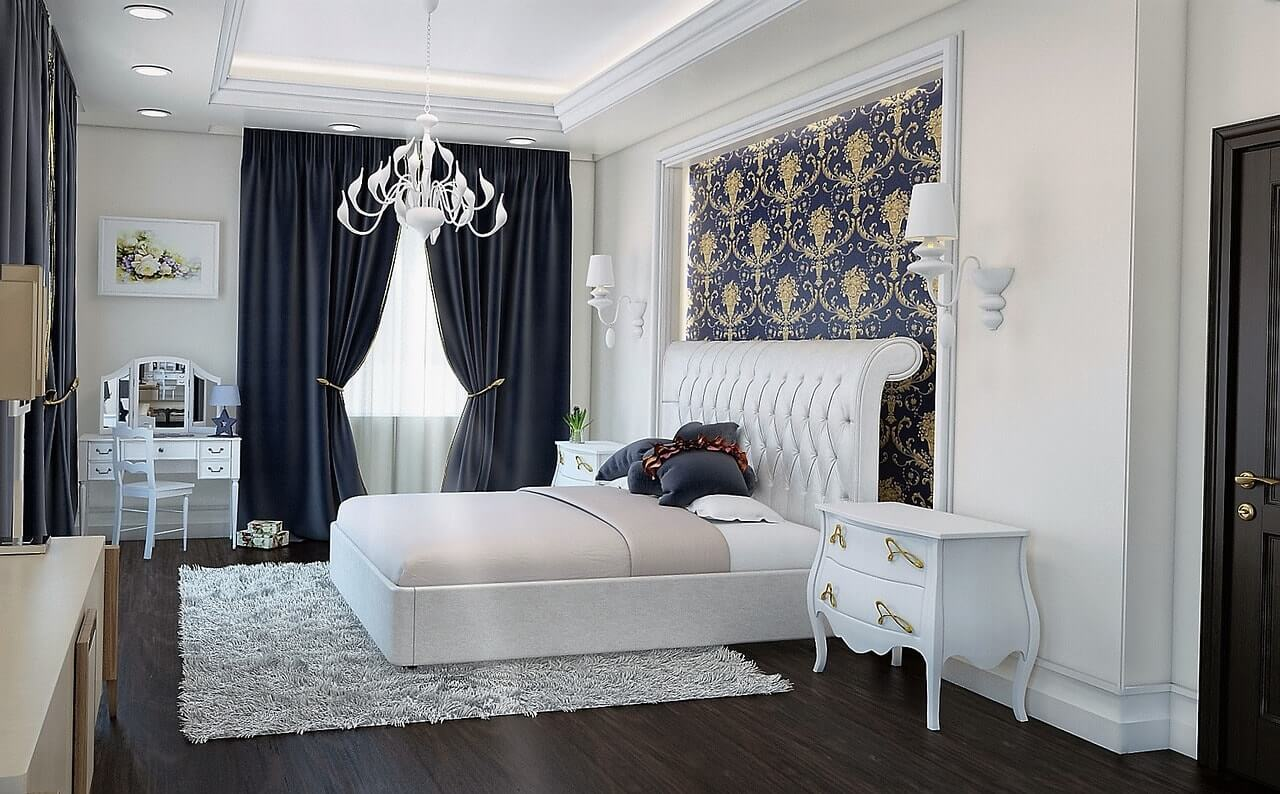 дизайн интерьера спальни в 4х комнатной квартире