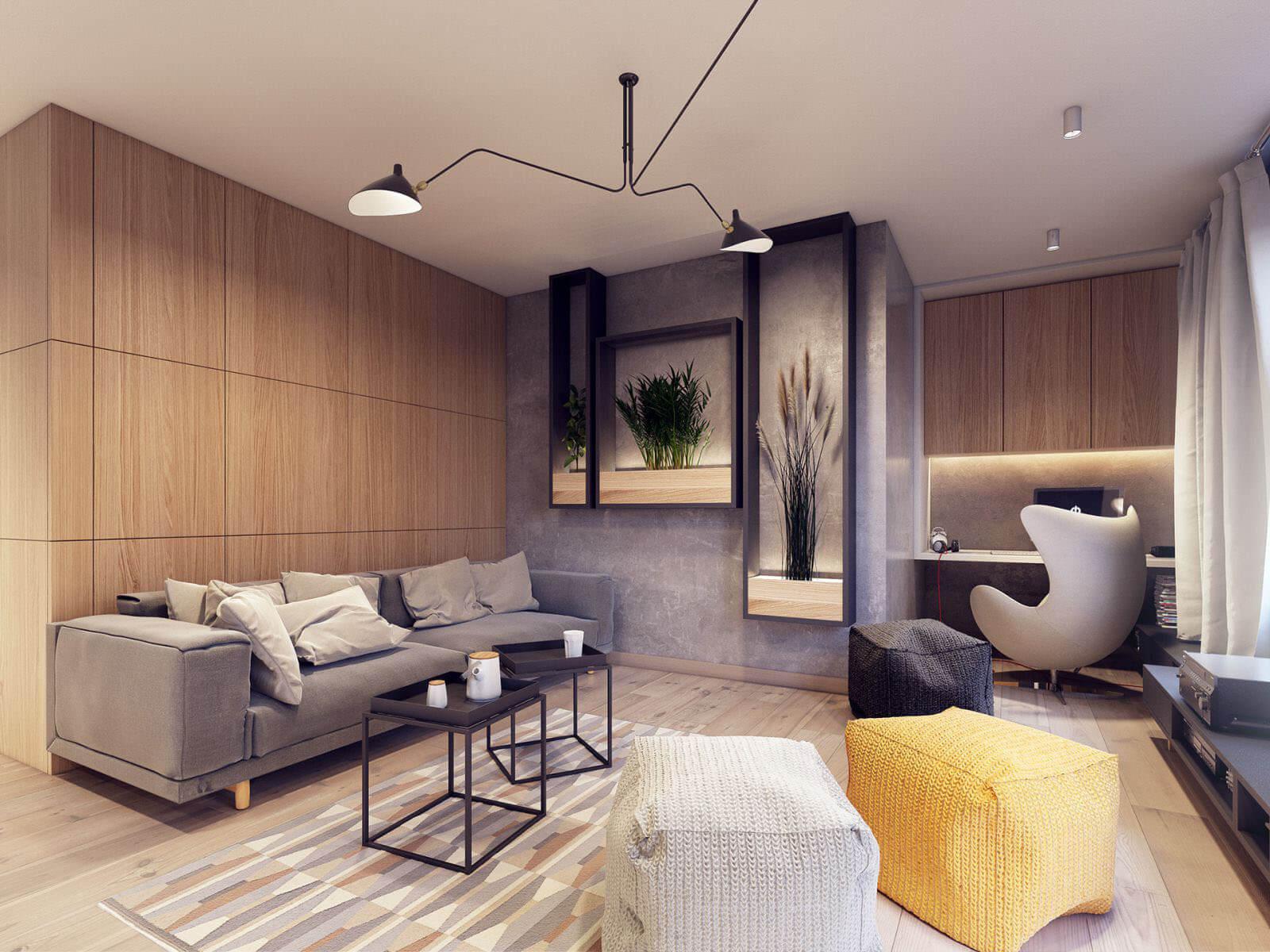 гостинный зал в современном стиле